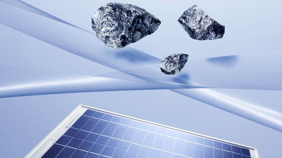 Silizium ist ein wichtiger Rohstoff für die Photovoltaik.