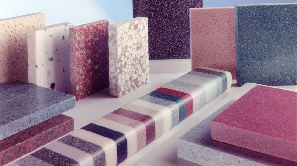 Work surfaces made of artificial stone